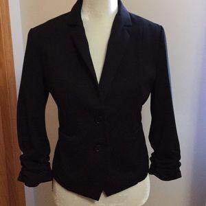 Black express 3/4 sleeve blazer